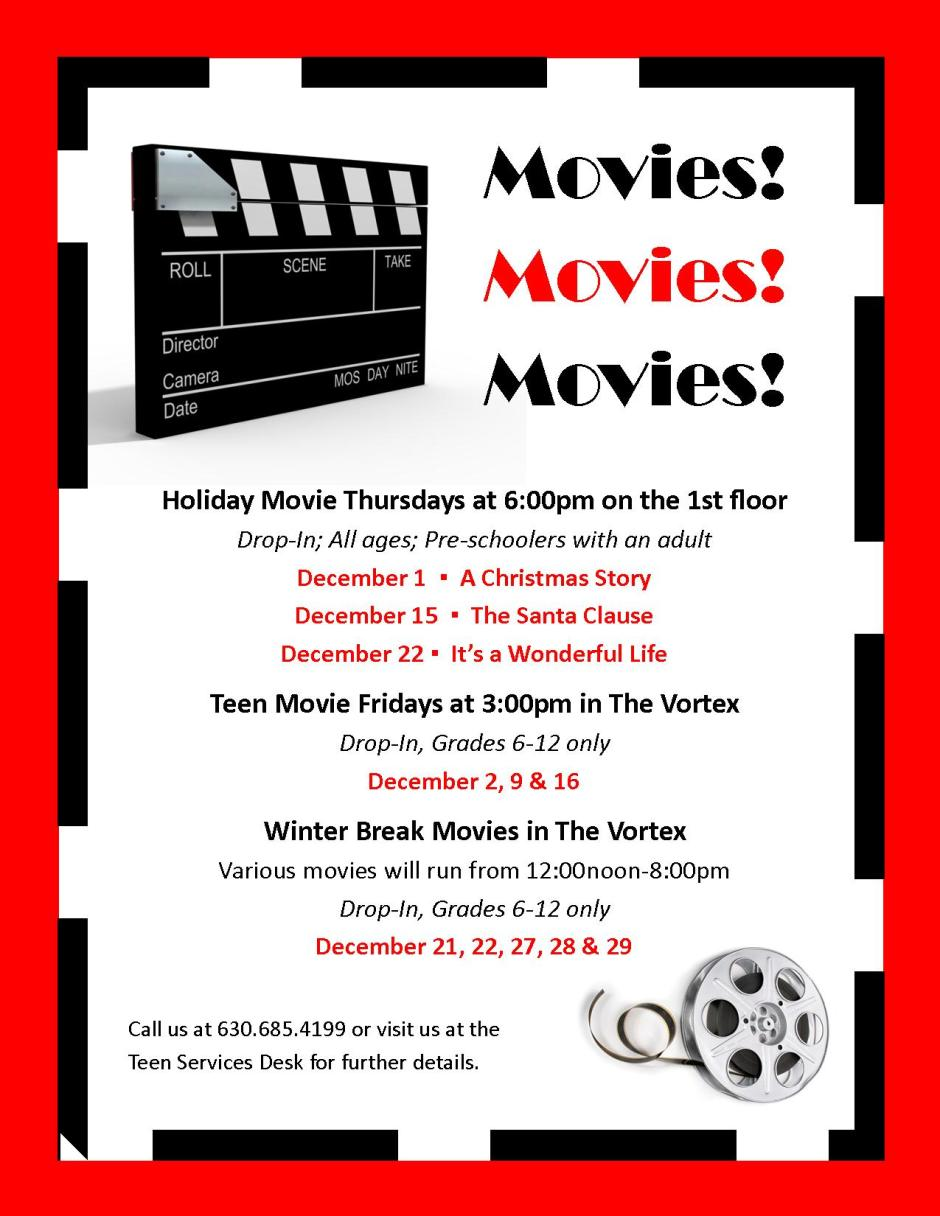 December 2011 Movies table tent