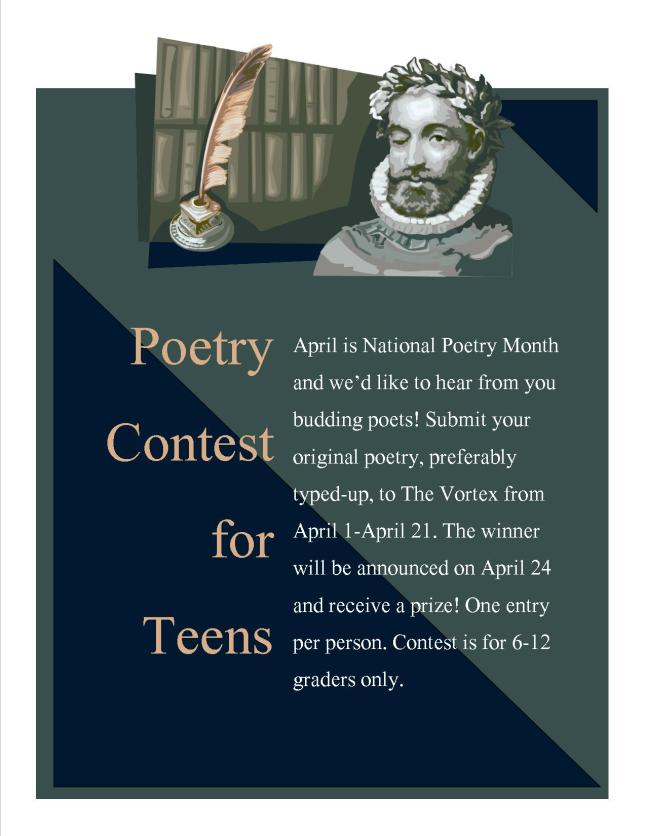 Sorry, that poetry competition for teen good