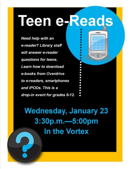Teen ereads Jan 2013