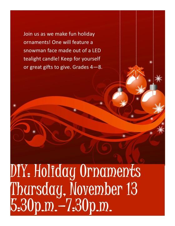 Holiday Ornaments November 2014
