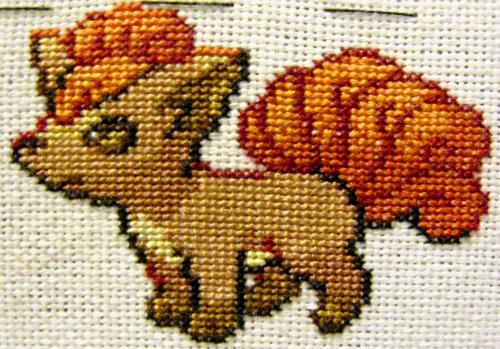 Cross stitch vulpix pokemon cross stitch tumblr