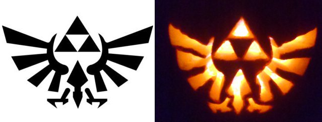 Zelda Triforce Pumpkin