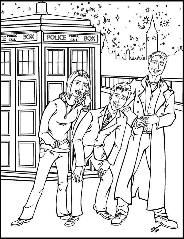 coloring page doctor who