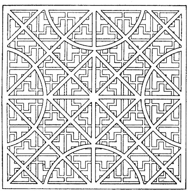 coloring page square