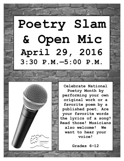 2016 MAR_MAY Poetry Slam_Open Mic