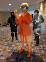 Cheesy Daft Punk and some photobombers