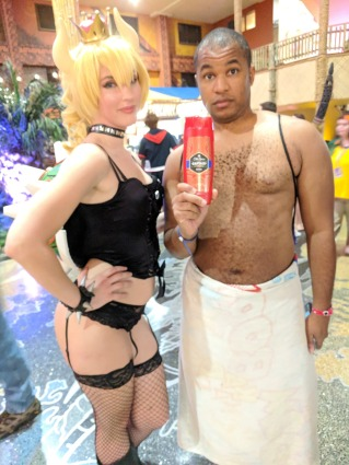 Bowsette & Old Spice Guy